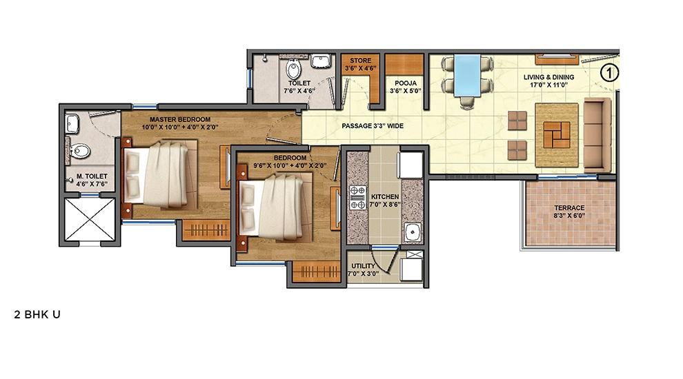 lodha palava aquaville series estela d to g apartment 2bhk 592sqft31