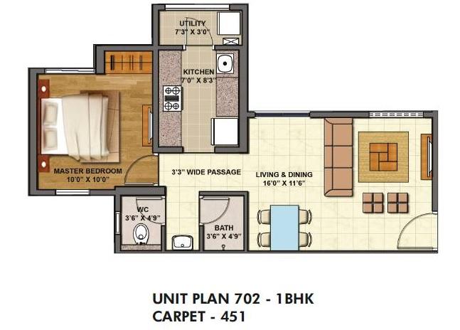 lodha palava casa siena apartment 1bhk 451sqft 1