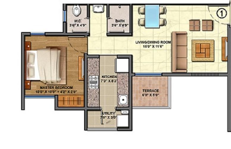 lodha palava florea a to d apartment 1 bhk 461sqft 20212204102205