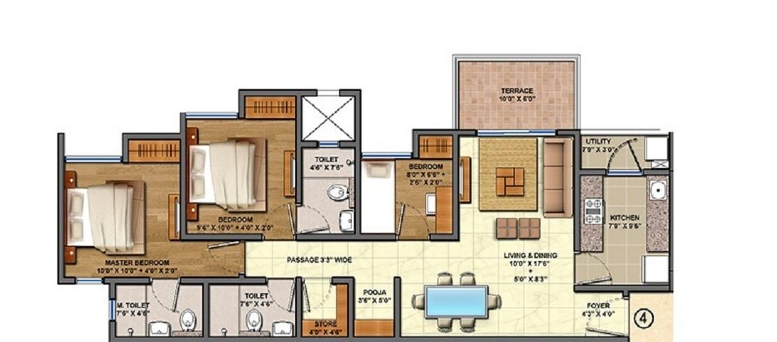 lodha palava olivia c apartment 3 bhk 809sqft 20213805173818
