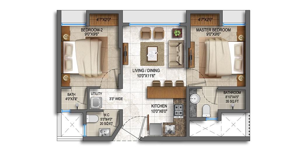 lodha paradise apartment 2 bhk 882sqft 20214005164033
