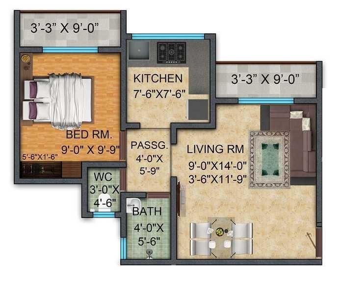 mayfair meadows apartment 1 bhk 332sqft 20202730112748