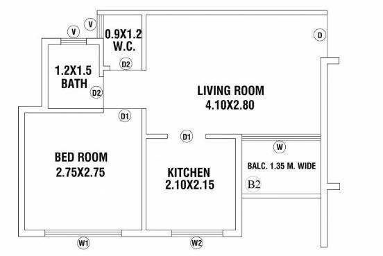 mirador utsaav apartment 1bhk 381sqft 51