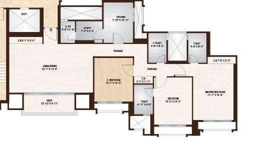 one hiranandani park apartment 3 bhk 1309sqft 20211620121623