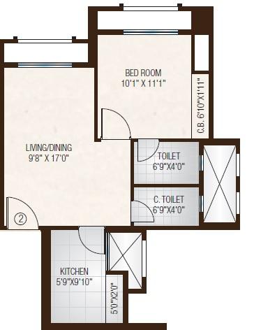 one hiranandani park fairway apartment 1 bhk 435sqft 20213419173440