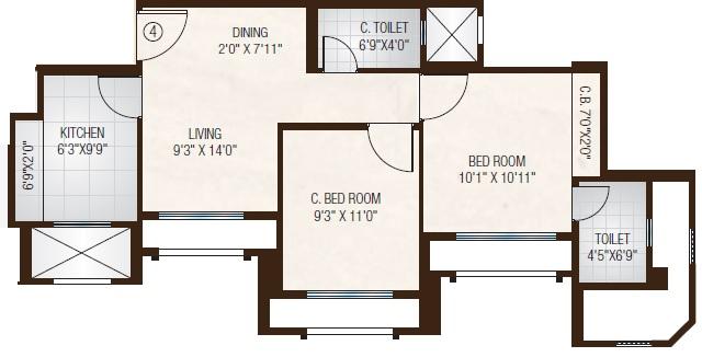 one hiranandani park fairway apartment 2 bhk 505sqft 20213619173654