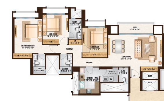 one hiranandani park preston apartment 3 bhk 1208sqft 20211220121223