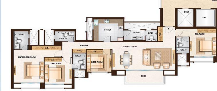 one hiranandani park willowcrest apartment 4 bhk 1698sqft 20214420124418