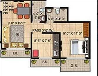 panvelkar realtors twin towers apartment 1 bhk 471sqft 20205325045311