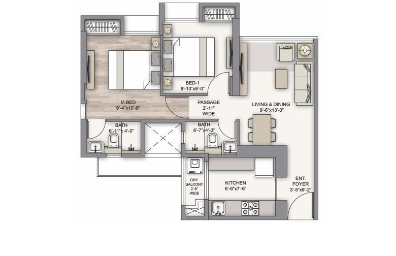piramal vaikunth phase ii apartment 2 bhk 985sqft 20212503112516