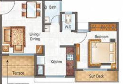 raunak city sector 4 d2 apartment 1bhk 368sqft11