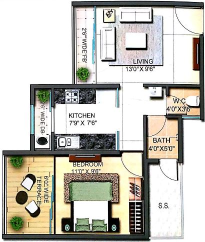 runwal codename 612 apartment 1bhk 433sqft41