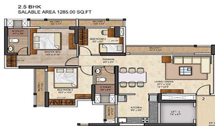 runwal conch apartment 3 bhk 1280sqft 20205028165033