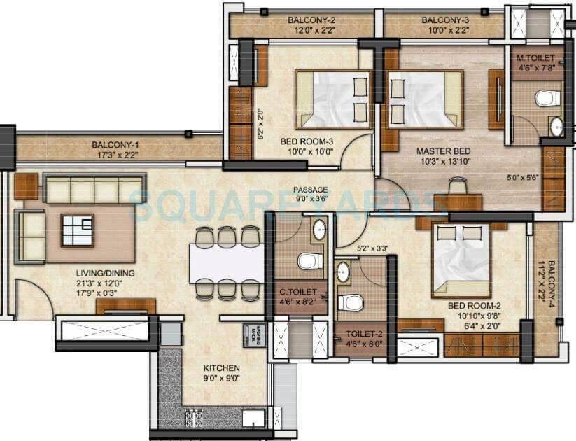 runwal eirene apartment 3bhk 1059sqft 1