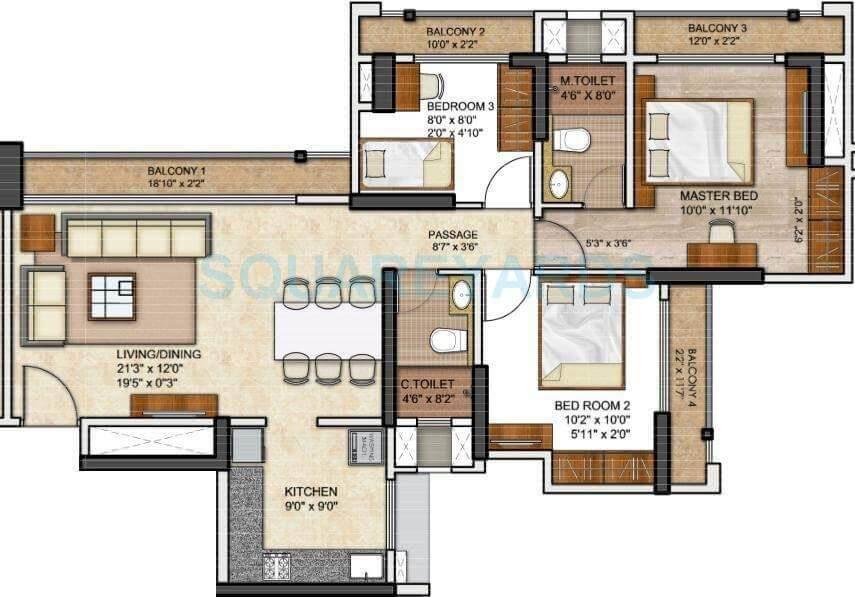 runwal eirene apartment 3bhk 958sqft 1