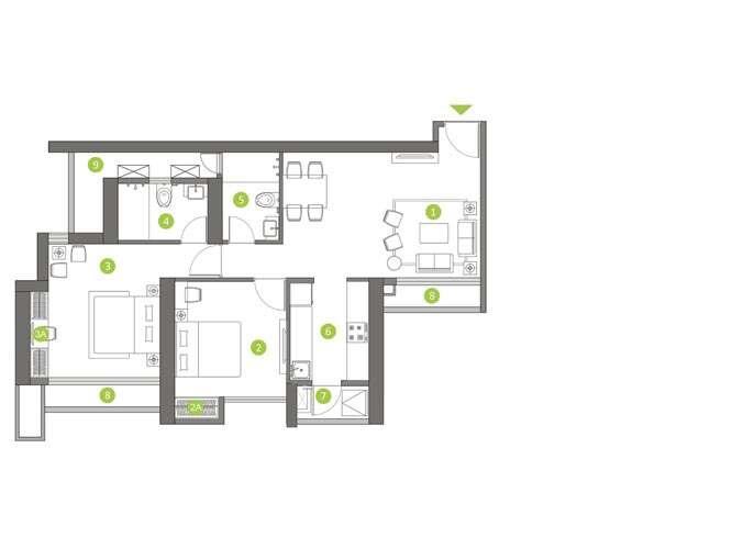 shapoorji pallonji northern lights apartment 2bhk 550sqft61