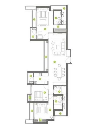 shapoorji pallonji northern lights apartment 3 bhk 1150sqft 20212131072149