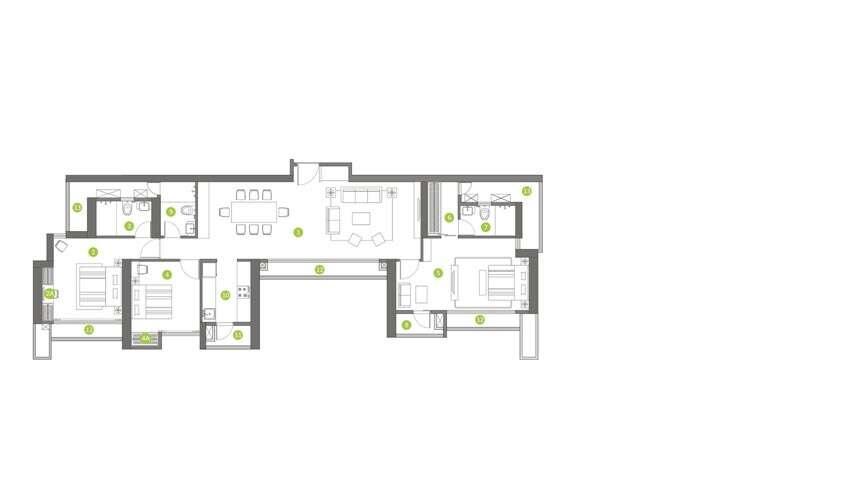 shapoorji pallonji northern lights apartment 3bhk 1145sqft61