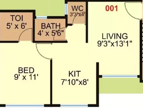 shashwat vaastu apartment 1 bhk 344sqft 20203315163356
