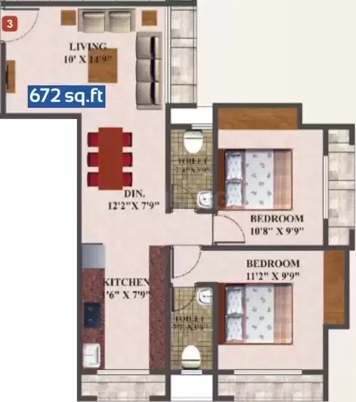 skywards vision regency apartment 2bhk 672sqft71