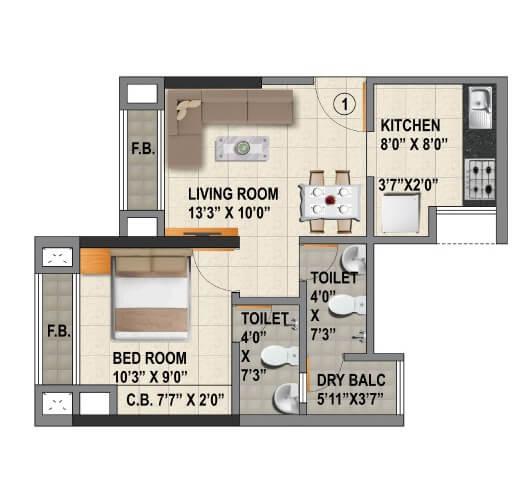 viraj heights apartment 1bhk 355sqft 1