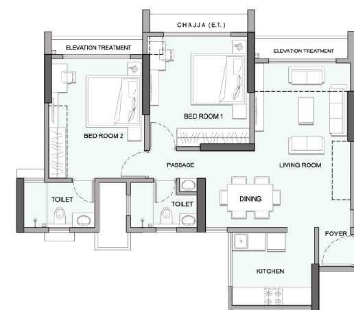 wadhwa elite platina 19 apartment 2 bhk 782sqft 20203805123846