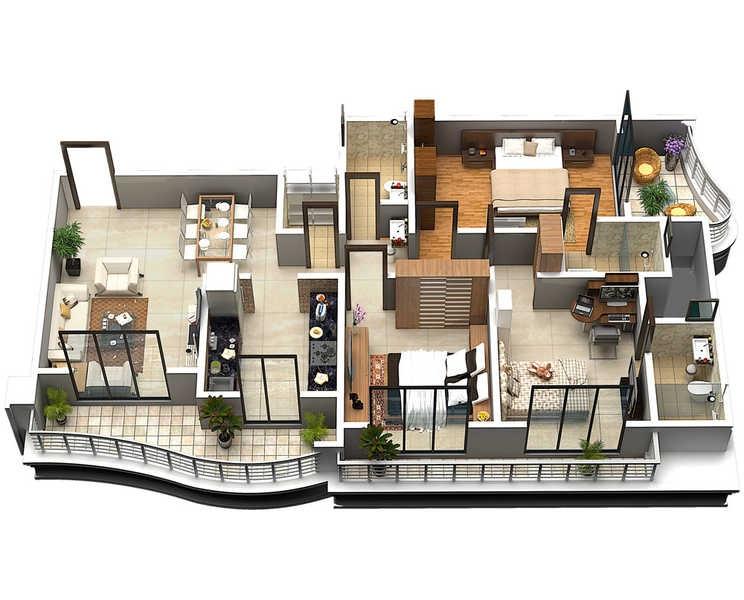 wadhwa rhodesia apartment 3bhk 873sqft 20202126172130