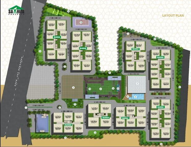 samhita splendid homes master plan image1