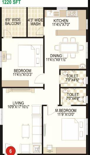 prime galaxy apartment 2bhk 1220sqft21