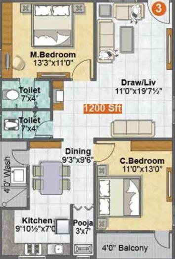 sri madhurya aishwarya grand apartment 2bhk 1200sqft61