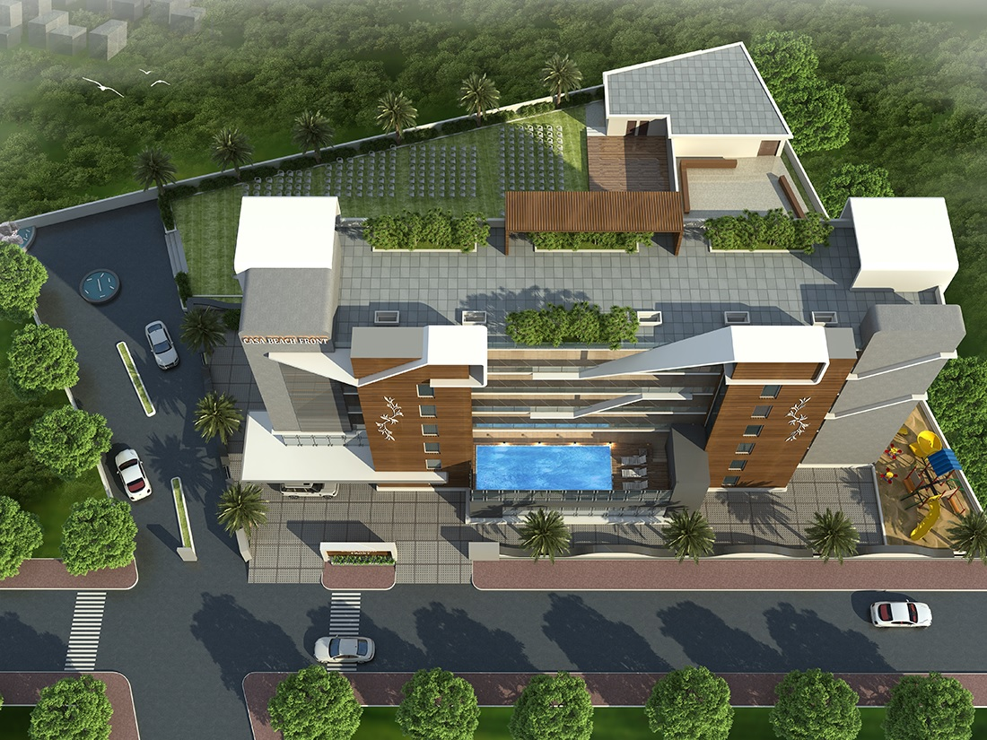 d home casa beach front project tower view1