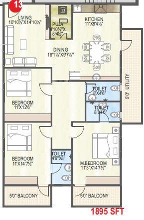 abhiram touchstone towers apartment 3bhk 1895sqft 1