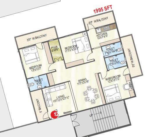 abhiram touchstone towers apartment 3bhk 1995sqft 1