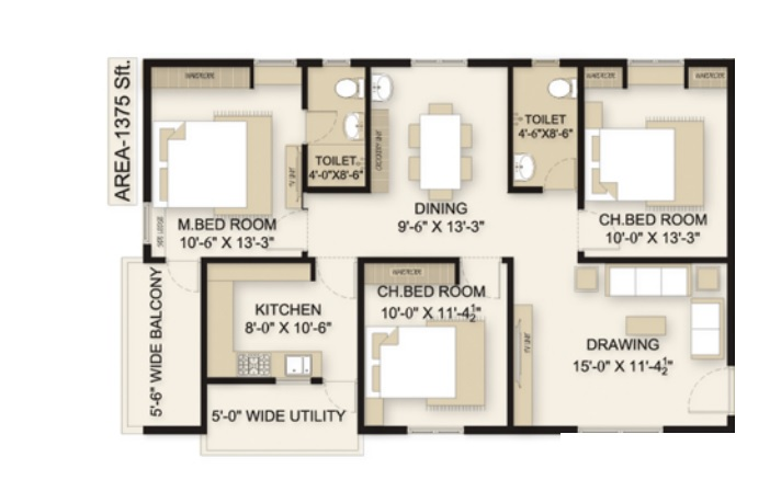 sri sky gardens apartment 3 bhk 1375sqft 20205613105658