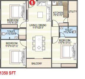 vaisakhi sankalp west winds apartment 3bhk 1350sqft 1