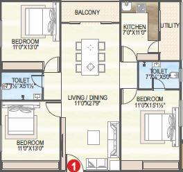 vaisakhi sankalp west winds apartment 3bhk 1460sqft 1
