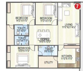 vaisakhi sankalp west winds apartment 3bhk 1640sqft 1