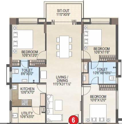 vaisakhi skypark apartment 3bhk 1497sqft 1