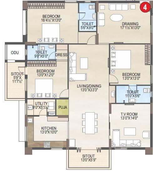 vaisakhi skypark apartment 3bhk 2752sqft 1